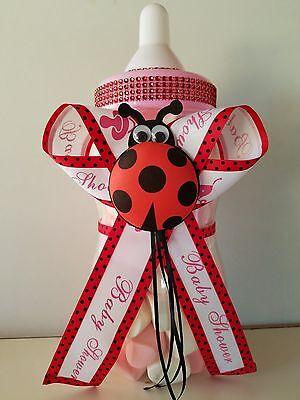 Ladybug Baby Shower Centerpiece Bottle Big 14