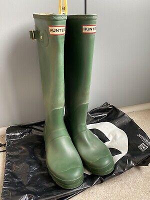 Hunter Wellies Size 7 Green