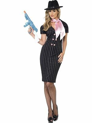 Gangsters Moll Womens 1920s Ladies Fancy Dress Costume Outfit Womens (Moll Outfit)