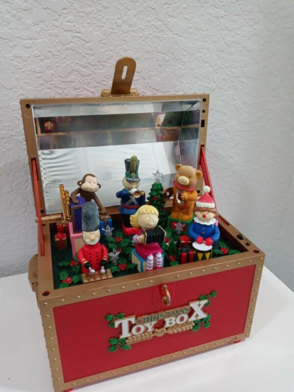 Christmas Toy Box Maisto Animated Music Box Carols Songs 1997 Tested