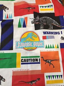 Retro Jurassic park curtains