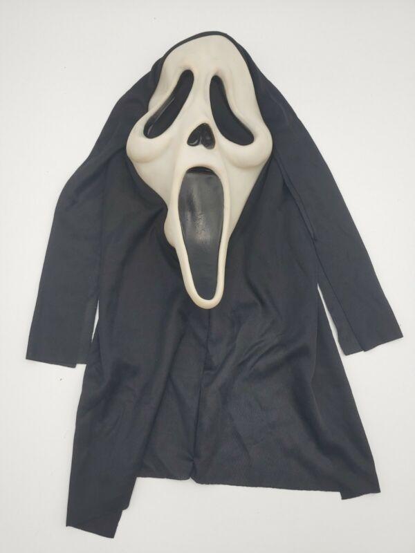 Vintage Scream Ghostface Easter unlimited Fun World GLOW Halloween Mask #S9206