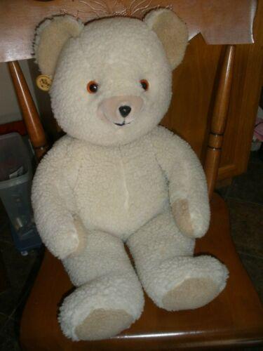 "Vtg 1986 Lever Bros Snuggle Teddy Bear Plush 22""  Russ Jumbo Large Toy"