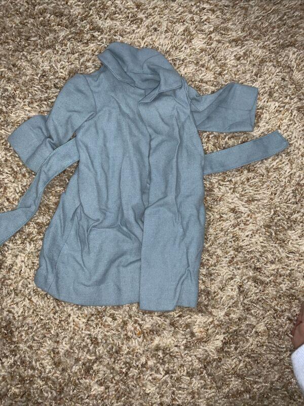 Vintage Doll Blue Wrap Coat Robe