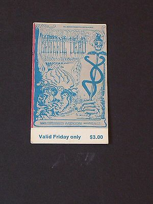 BG144 GRATEFUL DEAD Psychedelic FILLMORE TICKET by Lee Conklin