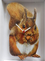 Red Squirrel Wall Clock. And Boxed - unbranded/generic - ebay.co.uk