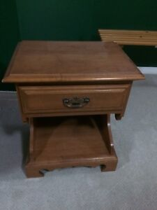 Solid wood night stand