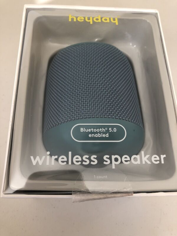 heyday Cylinder Portable Bluetooth Speaker With Strap - Teal ... Tested Open Box