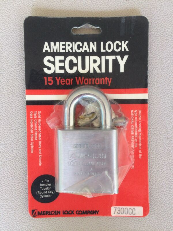 American Lock Company 7300CC 7-Pin Padlock 7300 Series NEW