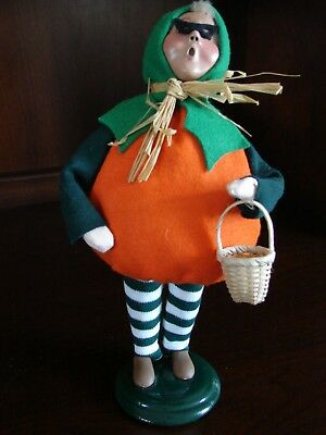 Byers Choice Christmas Caroler Halloween Boy Trick or Treat Pumpkin Costume