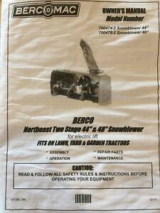 """Berco 44"""" snowblower for lawn tractor"""