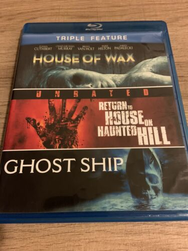 House Of Wax/Return To House On Haunted Hill/Ghost Ship Blu-ray Triple Feature - $13.00