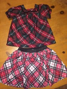 Girls Beautiful Holiday Shirt & Skirt