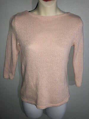 Ralph Lauren Womens Pullover Sweater Size Sz S Cotton Knit Jewel Neck EUC Cotton Jewel Neck Sweater