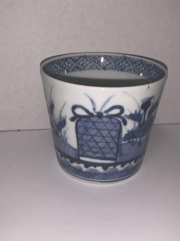 Japanese Antique KO-IMARI Porcelain Cup SOBA-CHOKO