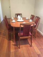 Vintage Retro 6 Chair Dining Suite Burnley Yarra Area Preview