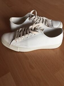 White leather Country Road trainers Carlton Melbourne City Preview