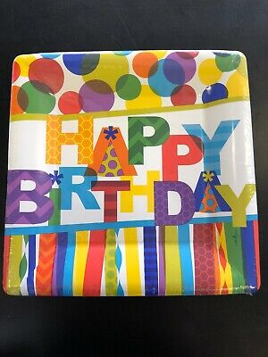 Design Design Happy Birthday Hooray 8 Dinner Plates