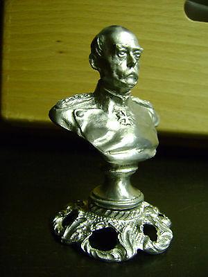 Bismarck Büste  Skulptur auf Sockel Metallbüste