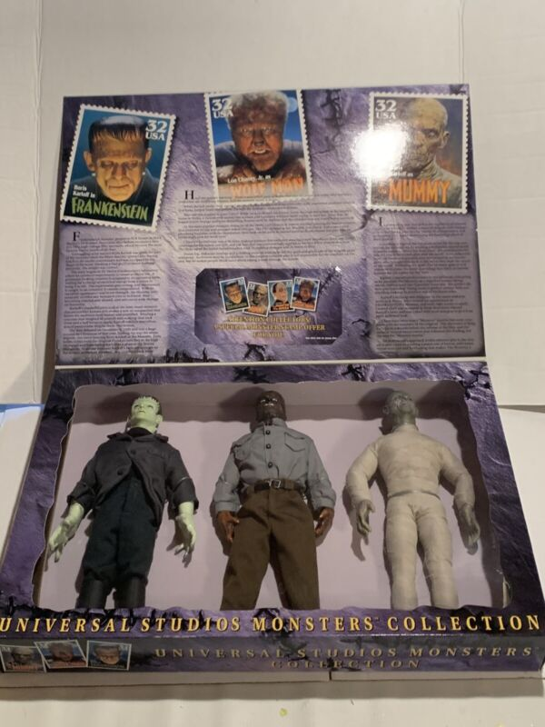 "Vintage 1997 UNIVERSAL MONSTERS COLLECTION 3-Pack 12"" CollectIble Figures Kenner"