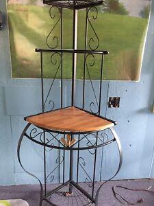 Wrought iron kitchen shelves