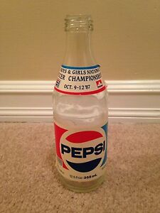 1987 Pepsi bottle with special label