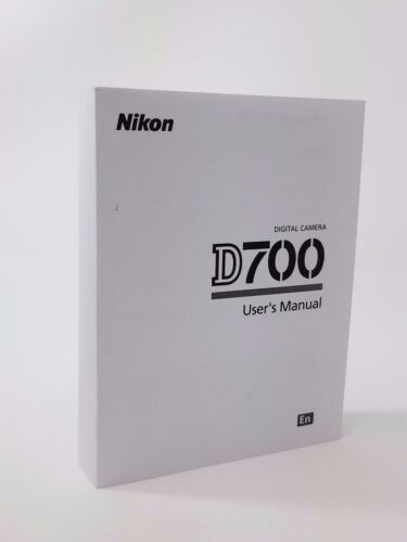 Nikon D700 Instruction Owners Manual D700 Book NEW