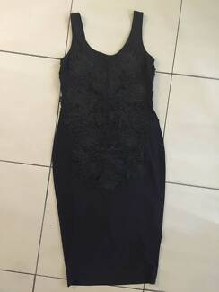 Bardot Little Black Dress Lace Detail Size 10 Worn Once