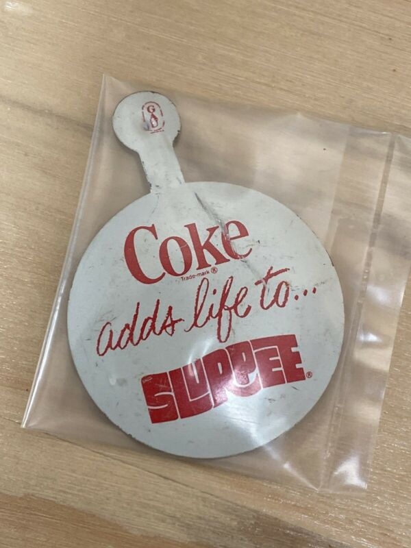 COKE Adds Life To Slurpee Metal Collectible / Pin  unique rare