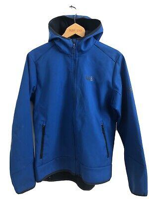 Jack Wolfskin Blue Hydropore Fleece Coat Jacket Size 36/38 CA 58735