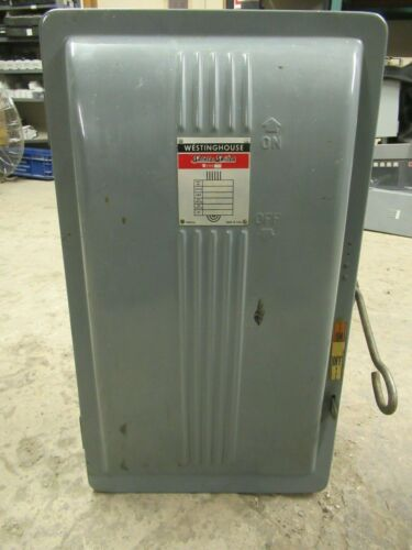 WESTINGHOUSE FUSIBLE SAFETY SWITCH CAF-323 100 AMP 240 VAC