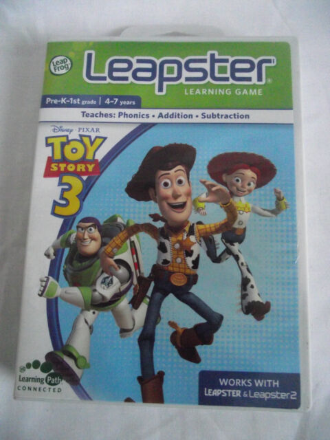 LEAPFROG LEAPSTER & LEAPSTER 2 /LEARNING GAME / TOY STORY 3 /WITH CASE & BOOKLET