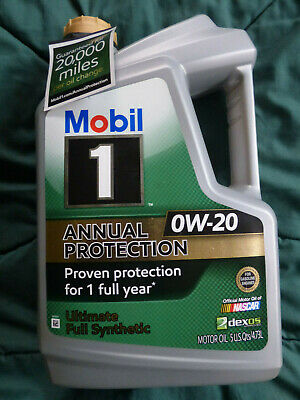 20K Mi Annual Anti-Wear Protection Mobil 1 0W-20 Best Synthetic Oil - 5