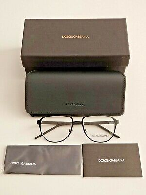 Brand New Dolce & Gabbana Matte Black Men's Pilot Prescription Eyeglass Frames!
