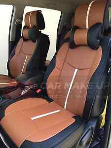 Sporty PU leather car seat covers in brown color Hurstville Hurstville Area Preview