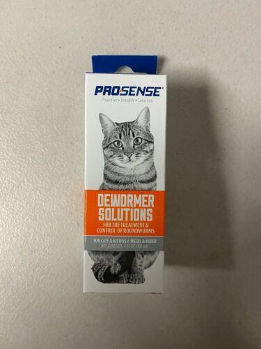 Pro-Sense Liquid Cat Dewormer Solutions Treatment & Roundworm Control 4 fl Oz