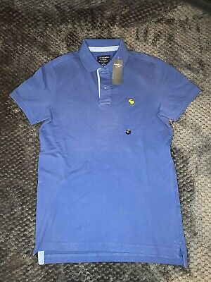 Brand New Abercrombie And Fitch Blue Polo with Yellow Motif XS (Extra...