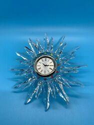 Swarovski Crystal - Solaris Table Clock - 221626 - Retired - Rare