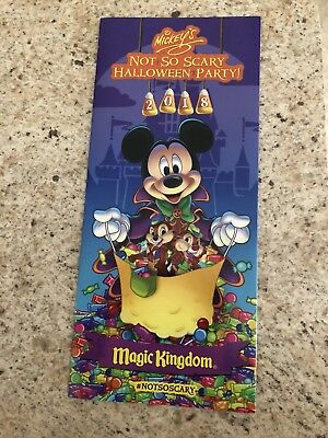 2018 Mickey's Not So Scary Halloween Party Walt Disney World Event Map Park