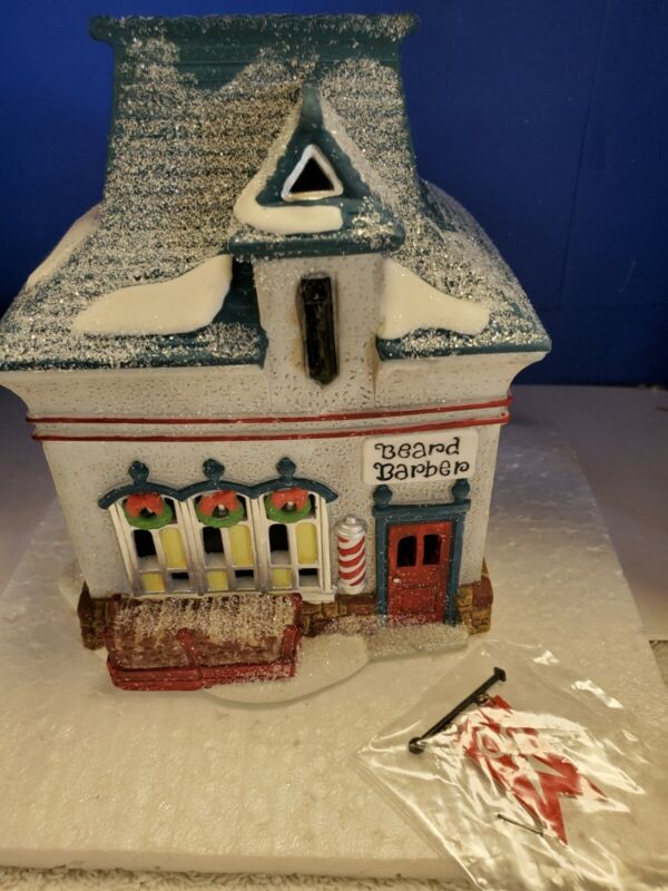 Dept.56: Beard Barber Shop - North Pole Village - NEW