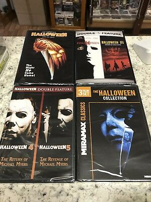 HALLOWEEN COMPLETE COLLECTION DVD NEW! 1-8! 1,2,3,4,5, CURSE, H20, RESURRECTION (Halloween Curses)