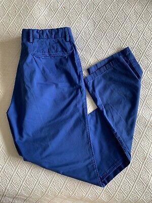NWT BAGNOLI SARTORIA NAPOLI Luxury Mid Blue Pants EU50 Us 34