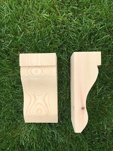 Wooden Corbels (Shelf Brackets) solid pine style B (1 pair)
