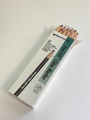 2 Lot Sanford Peel Off China Marker Pencils Crimson Red 24 Count 062062 165t