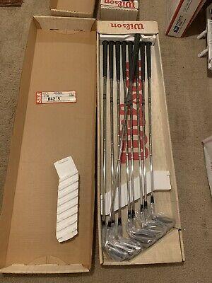 NEW 1982-Vintage Wilson Staff II Tour Block Golf Clubs 4 Woods + 9 Irons