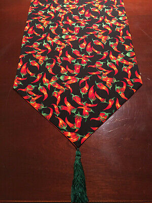 Cinco de Mayo Fiesta Red Chili Pepper Cotton Table Runner by ThemeRunners - Fiesta Table Runner