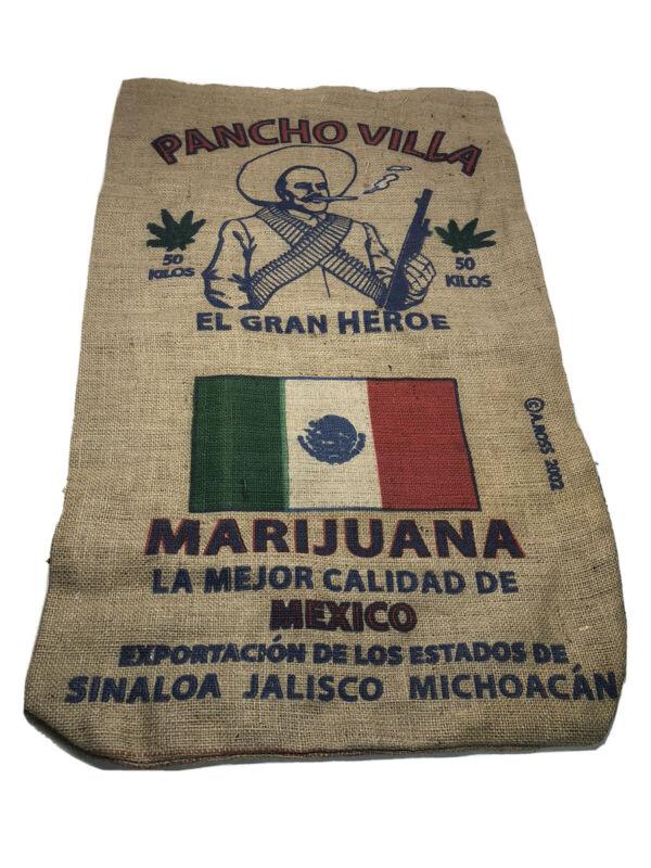 Collectible Cannabis Burlap Sack Pancho Villa Mexico 3