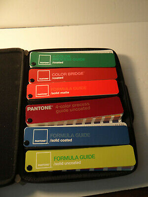 Pantone Guide Kit Case 6 Color Guide Bridge Formula Coated Uncoated Matte