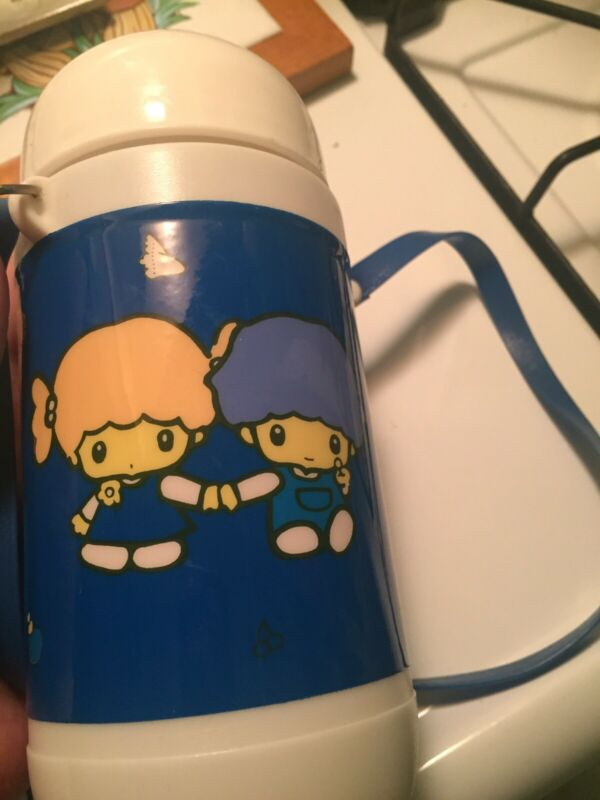 Vintage 80s Sanrio Little Twin Stars ? Clone Drinking Thermos With Strap