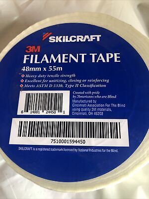 Skilcraft Filamentstrapping Tape 48mm X 55m Whiteclear